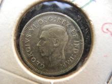 1945 Canada 10C Silver, Geo VI, Nice Grade!