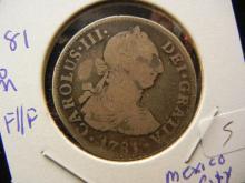 1781 Spanish Mexico 2 Reales.  Mexico City Mint.  Very Fine.