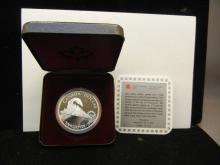 1986 Canada Vancouver Silver Dollar.  Proof in government case.