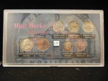Shifting Mint Marks Collection with 3 Silver Coins