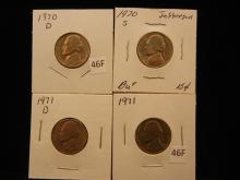 1970 D&S, 1971 P&D Jefferson Nickels High Grade