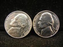 1965 & 1966 SMS Jefferson Nickels