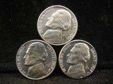 1961, 1969-D, & 1969-S Jefferson Nickels