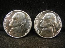 1972-D & 1974-D Jefferson Nickels
