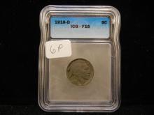 1918-D Buffalo Nickel ICG F 15