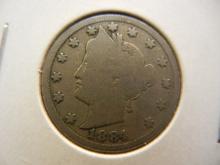 1884 Liberty Head V Nickel Better Date