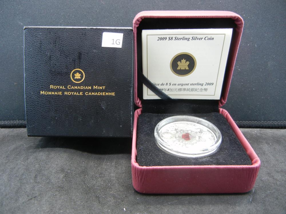 2009 Canada $8 Sterling Silver Coin.  Original Mint Packaging.