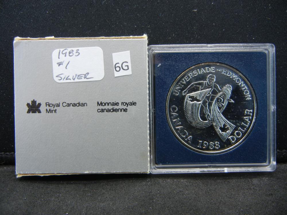 1983 Canada Commemorative $1.  .38 oz Silver in Coin.