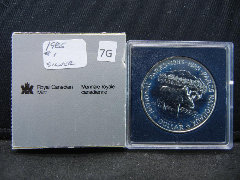 1985 Canada Commemorative $1.  .38 oz Silver in Coin.
