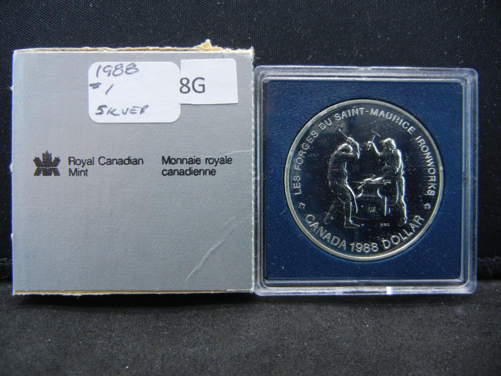 1988 Canada Commemorative $1.  .38 oz Silver in Coin.