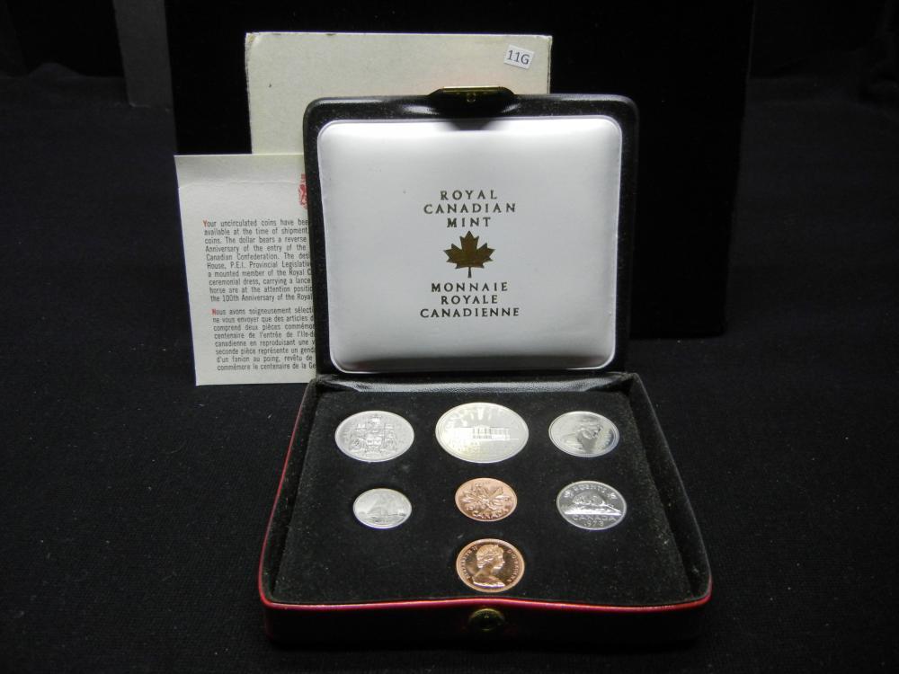 1973 Canada Mint Set with 2 Pennies.  Original Box.