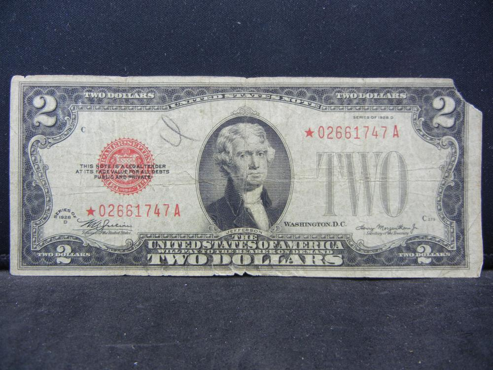 1928D.  $2 Red Seal Star Note.