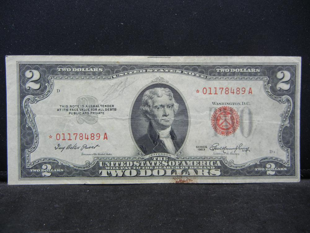 1953.  $2 Red Seal Star Note.
