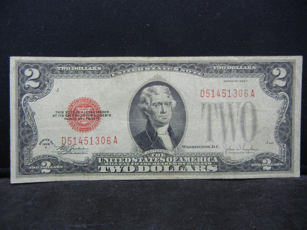 1928F.  $2 Red Seal Bank Note.