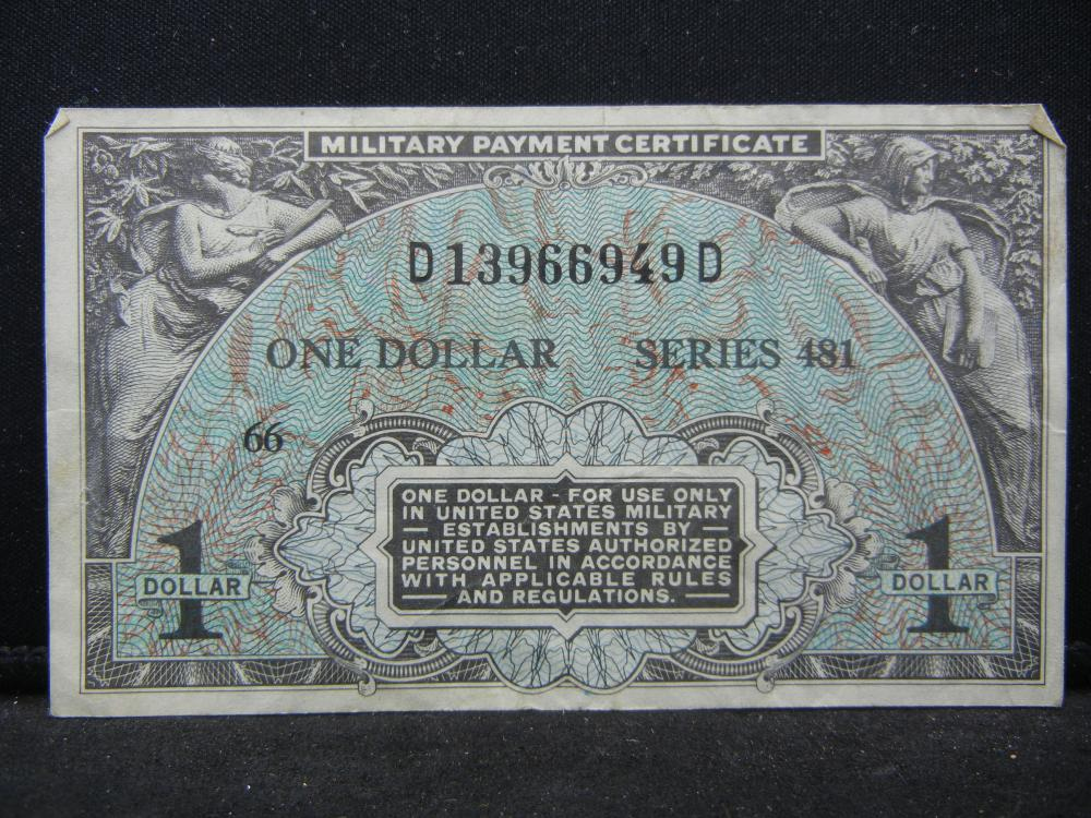 1951-54 $1 Military Payment Cert.