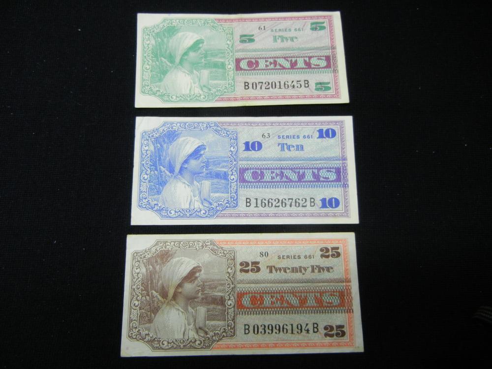 1968-69 5c, Dime, & Quarter Military Payment Certs.