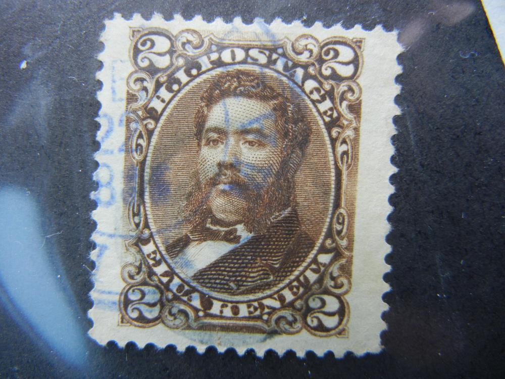 Hawaiian Islands 2c Postage Stamp.  Elua Keneta.  Used.