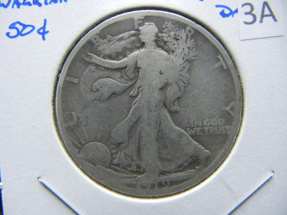1919-S Walking Half Dollar.  Good.  Better Date.
