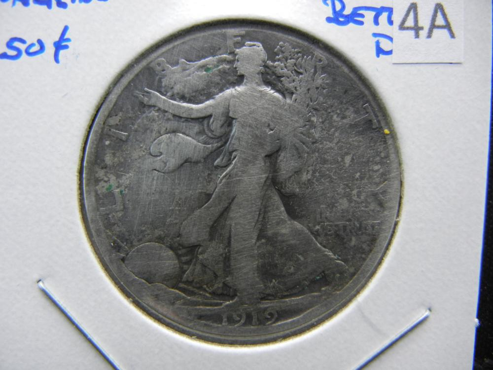 1919-D Walking Half Dollar.  Good.  Better Date.