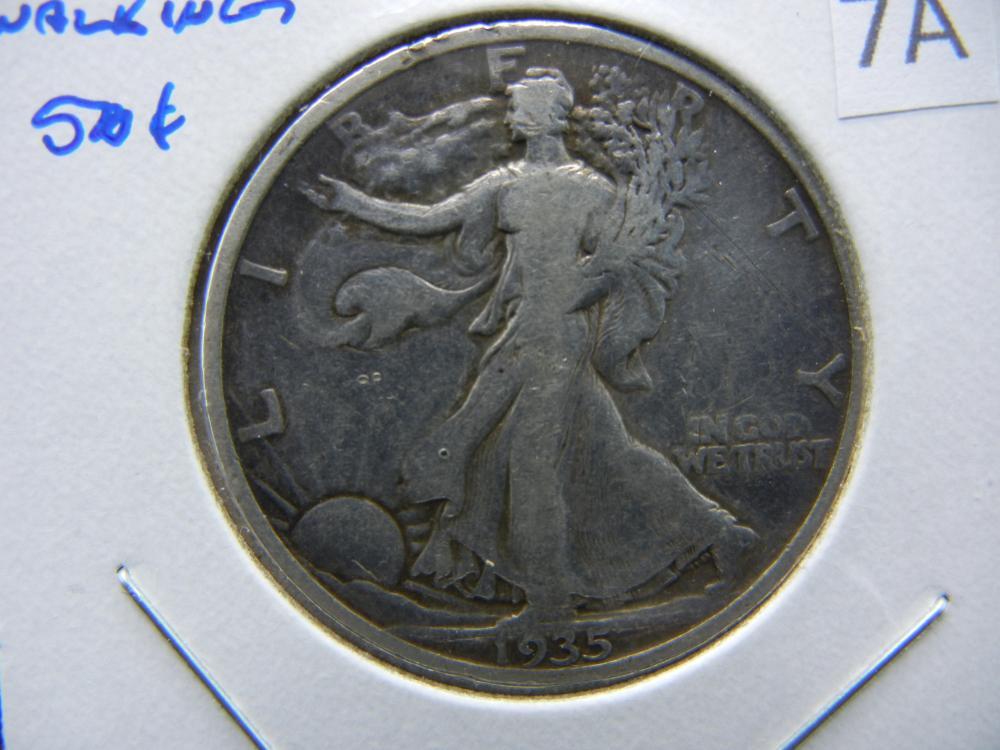 1935 Walking Half Dollar.