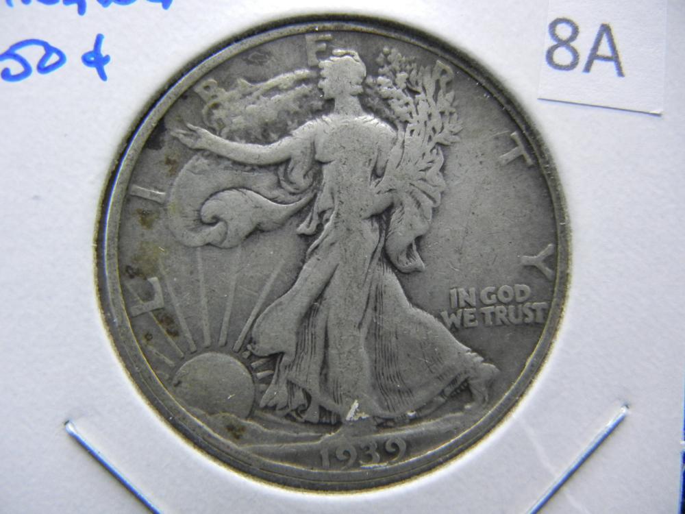 1939-S Walking Half Dollar.