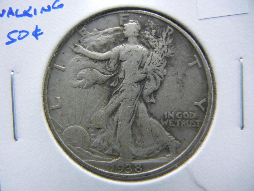 1938 Walking Half Dollar.