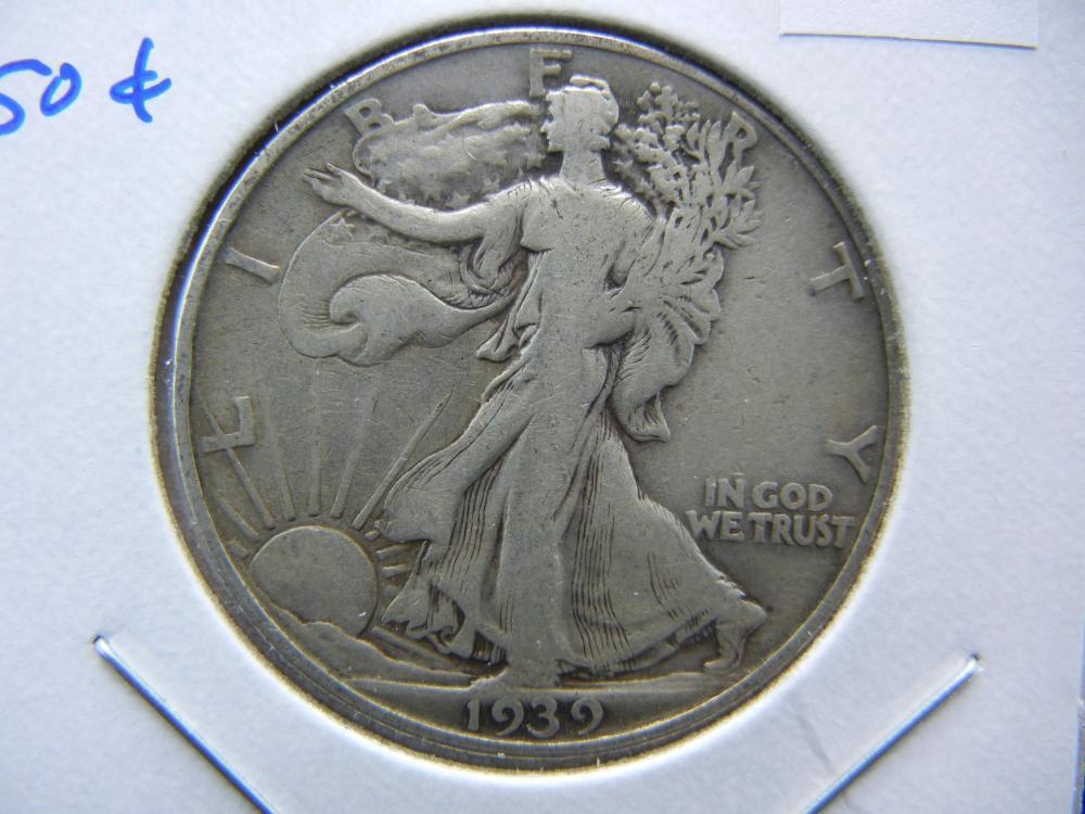 1939-D Walking Half Dollar.