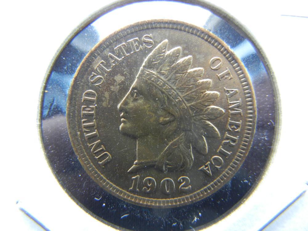 1902 Indian Head Cent .  High Grade.  Pretty!