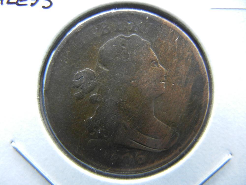 1806 Small 6, Half Cent. Stemless. Fine Details.