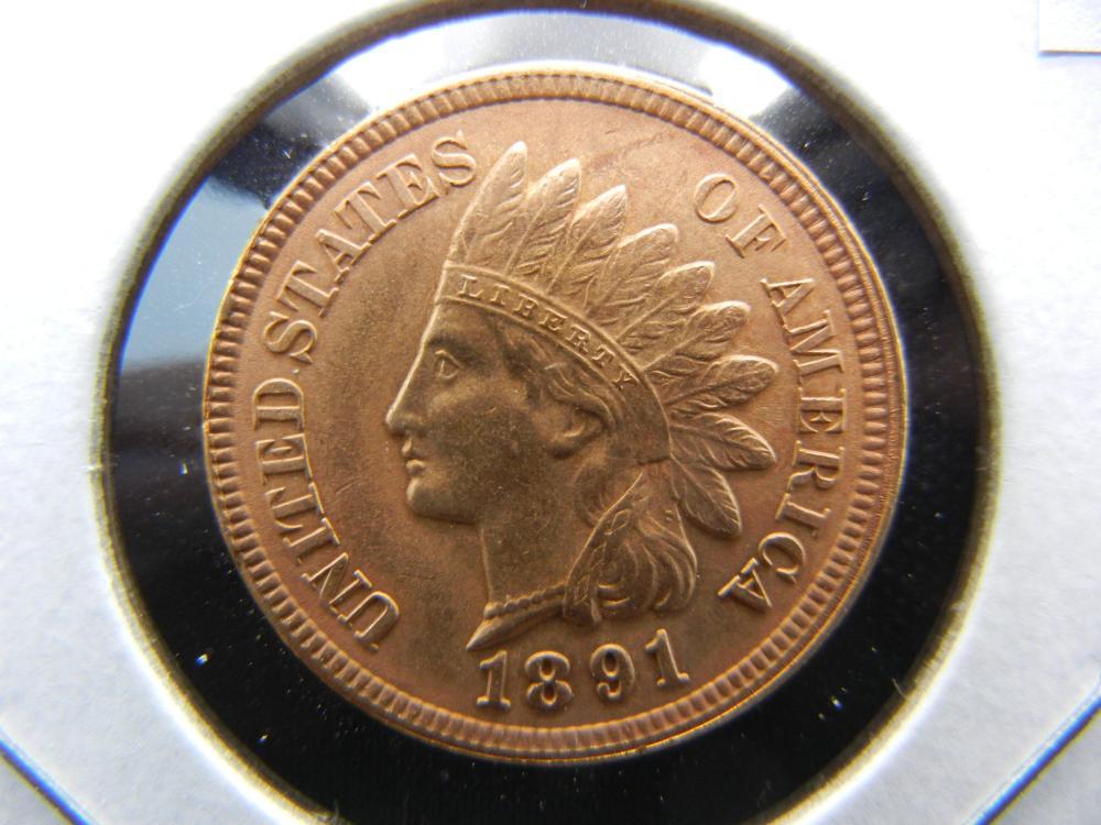 1891 Indian Head Cent .  High Grade.