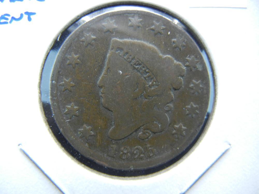 1825 Large Cent.  Fine.