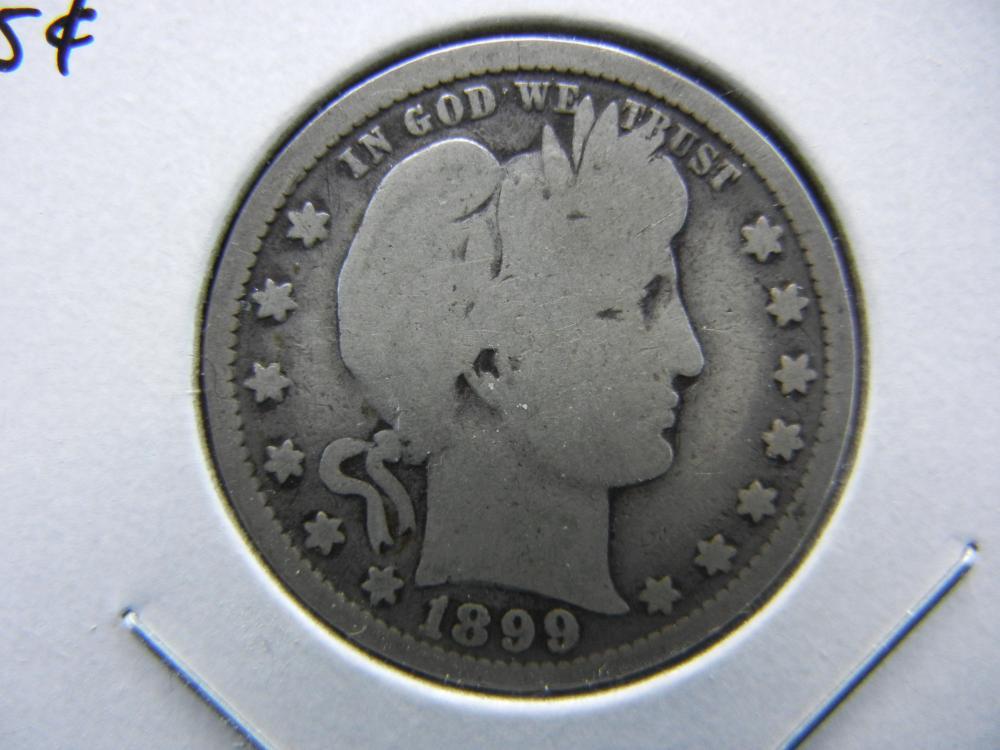 1899 Barber Quarter.  Good+.