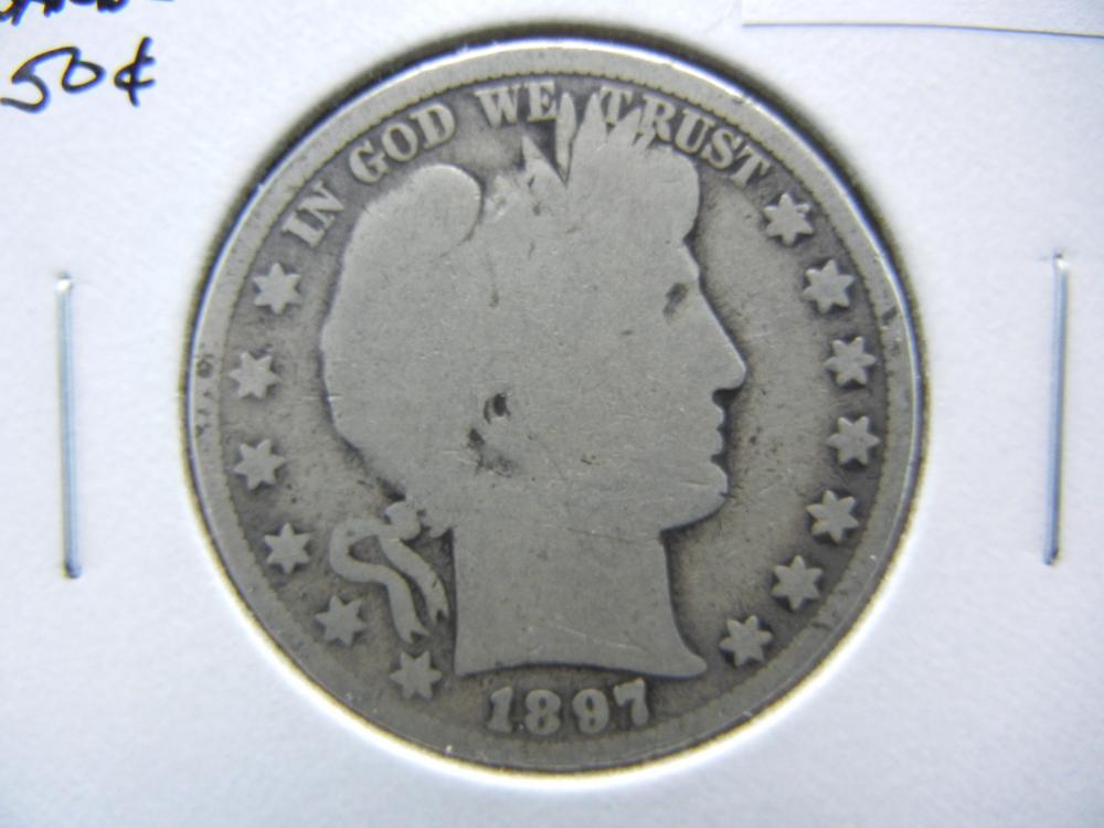 1897 Barber Half Dollar.  Good.