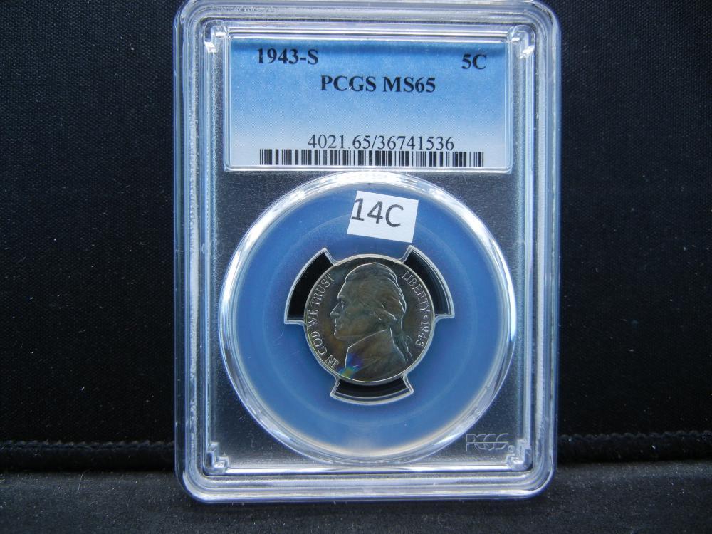 1943-S Jefferson Nickel .  PCGS MS65.