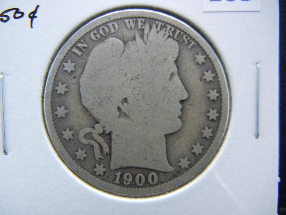 1900 Barber Half Dollar.  Good.
