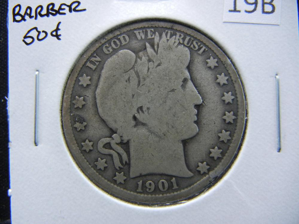 1901 Barber Half Dollar.  Good.