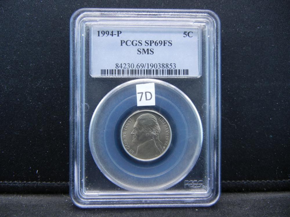 1994-P Jefferson Nickel  .  PCGS SP69FS.  SMS.