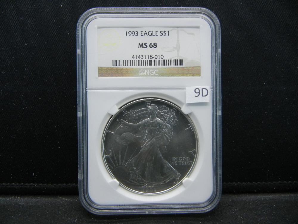 1993 Eagle S $1.  NGC MS 68.