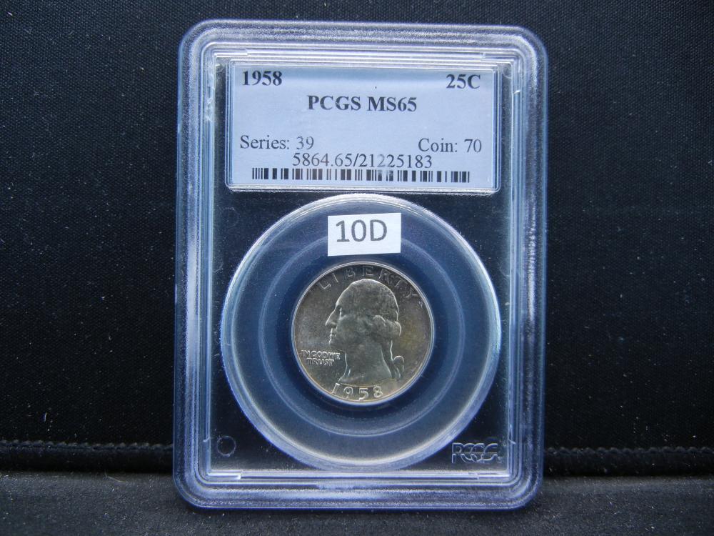 1958 Quarter .  PCGS MS65.