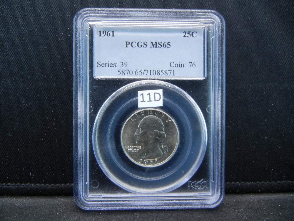 1961 Quarter .  PCGS MS65.