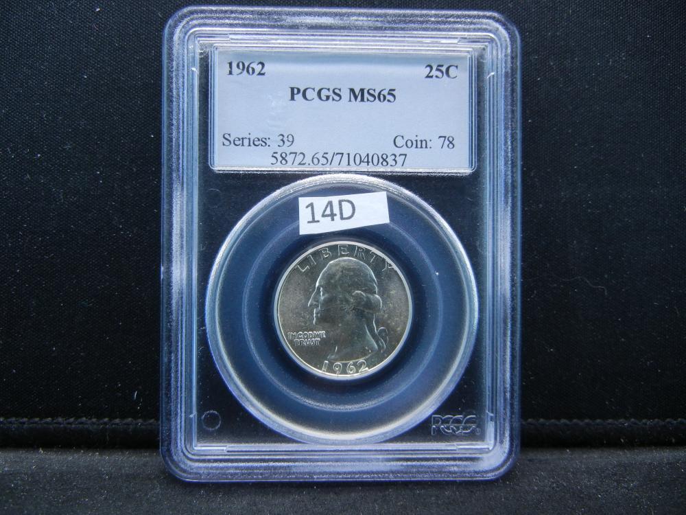1962 Quarter .  PCGS MS65.