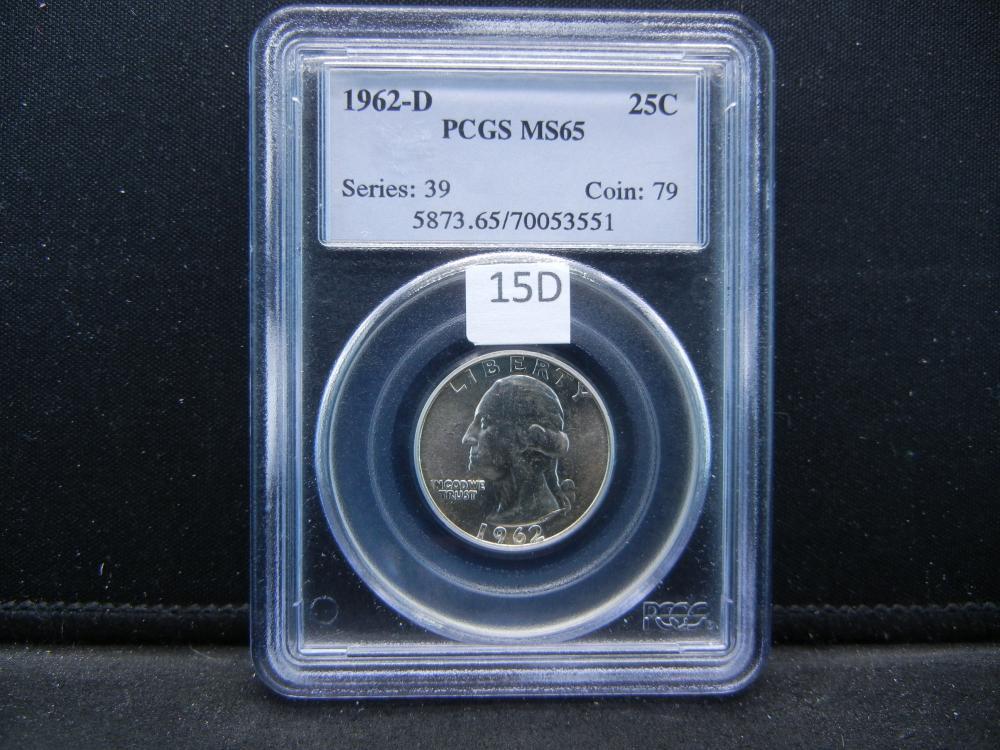1962-D Quarter .  PCGS MS65.