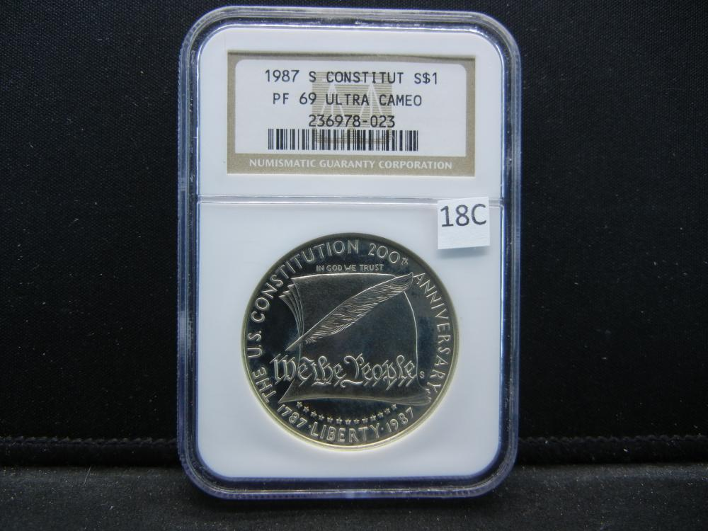 1987 S Constitution S $1.  NGC PF 69 ULTRA CAMEO.