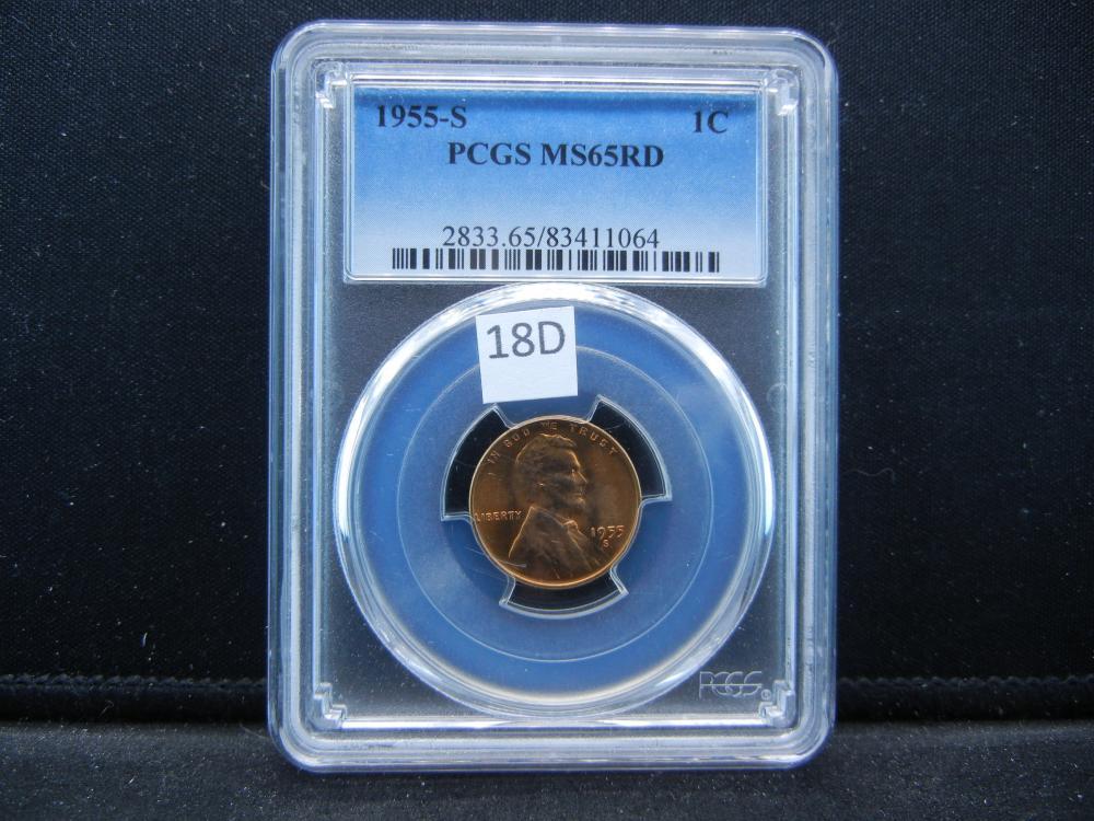 1955-S Cent .  PCGS MS65RD.