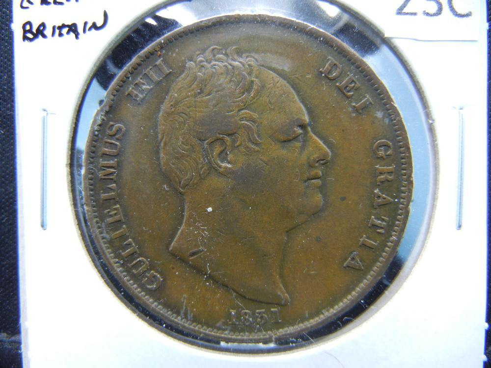1831 Great Britain 1 Penny.  XF.