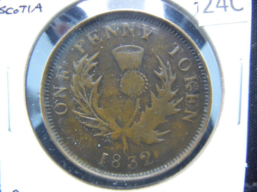 1832 Nova Scotia 1 Penny Token.  Rare.