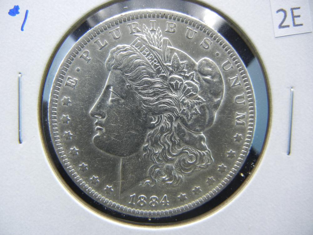 1884-O Morgan $1.  AU.