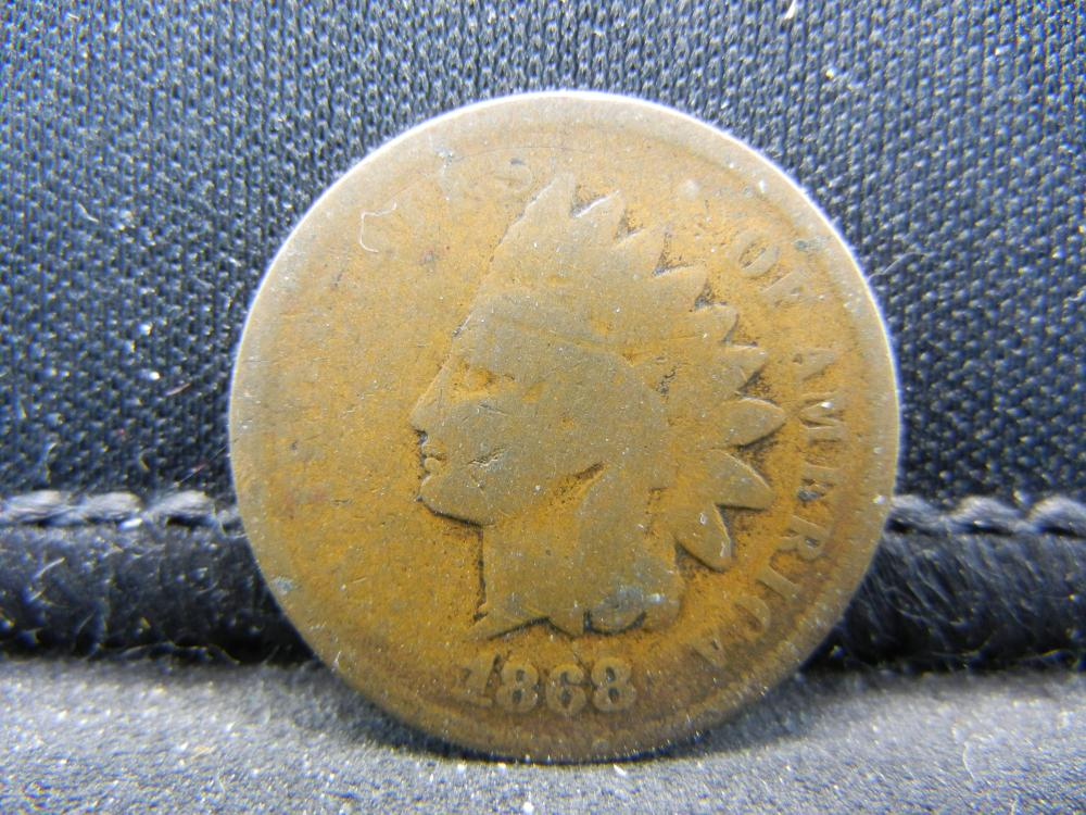 1868 Indian One Cent .  Semi-Key.  AG+.