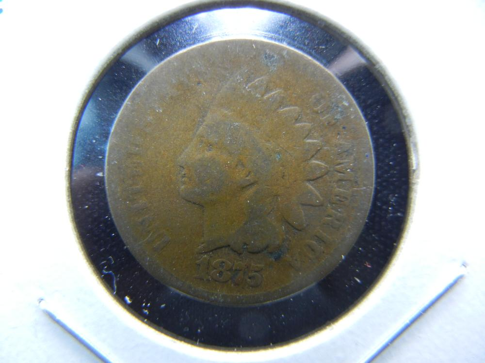 1875 Indian One Cent .  Good.