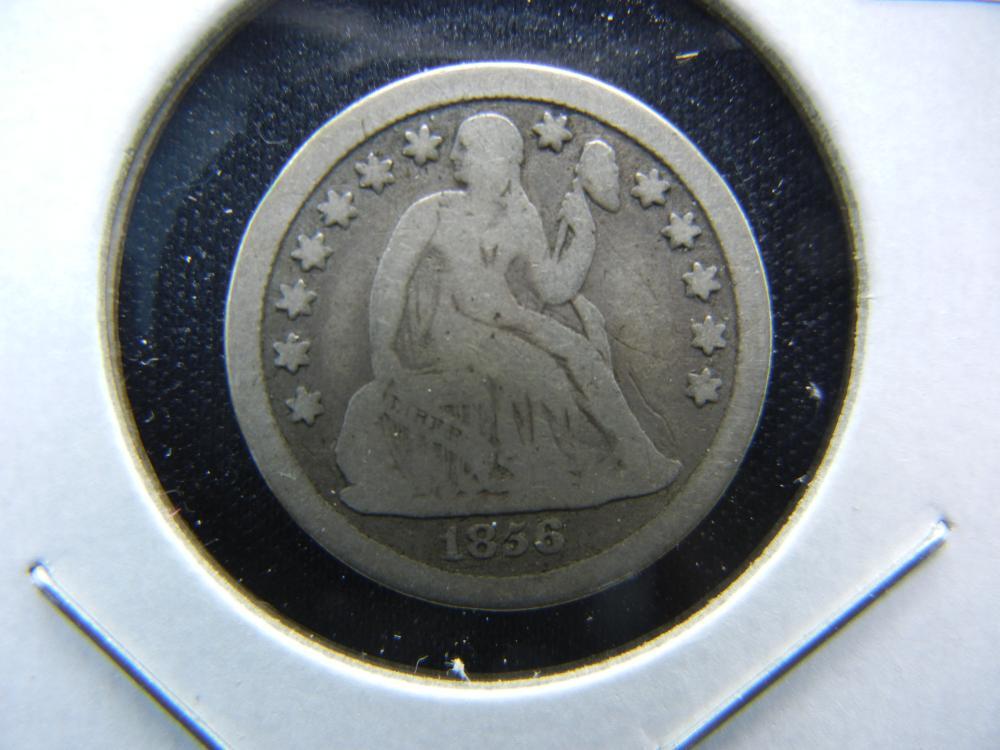 1856-O Seated Dime.  VG+.  Scarce.